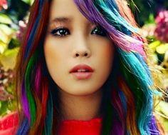 Colorful Hair - #brighthair #hairinspiration #colorfulhair #rainbowhair - bellashoot.com