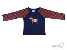 Aztec Blue Yarn Dyed Horse T-Shirt