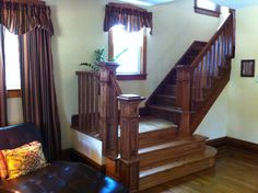 1910 foursquare house | Our 'New' To Us 1910 Foursquare Home: Stair Newels and Rails Complete