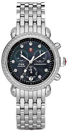 MWW03M000192  NEW MICHELE CSX DAY LADIES WATCH IN STOCK   - FREE Overnight Shipping   Lowest Price Guaranteed    - NO SALES TAX (Outside California) - WITH MANUFACTURER SERIAL NUMBERS- Black Mother of Pearl Dial with Diamonds  - 109 Diamonds Set on Case (.64ct)  - Battery Operated Quartz Movement- 3 Year Warranty- Guaranteed Authentic  - Certificate of Authenticity- Manufacturer Box