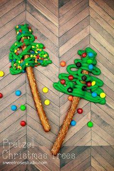 Chocolate pretzel trees