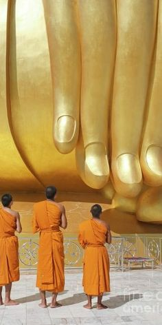 Hand of the Biggest Golden Buddha a Thai Temple