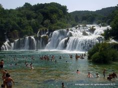 Some parts of the national park Krka are open for swimming and enjoying the waterfalls from up close.