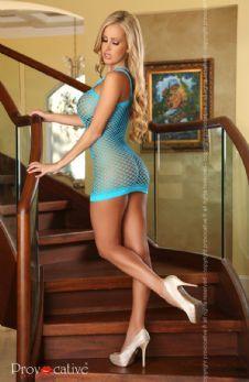 Provocative Sexy Electric Blue Dress | Sexy Dress | Mesh Dress | Blue Dress | The Pantie Purse