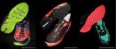 Las mejores zapatillas para trail running con drop 4mm: Comparartiva NB MT980 fresh foam; Salomon Fellcross; Saucony Xodus 5 y Brooks Pure grit 3.