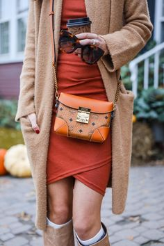 Sassy Long-Sleeve Dress Under $60 for Fall in Vermont | Alyson Haley #falloutfitideas #fallootd #fallstyle