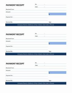 receipt template | Payment Receipt Template Word