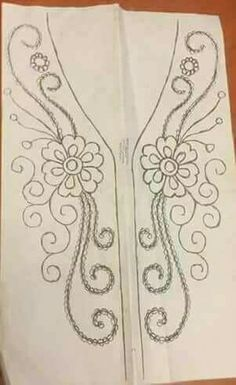 Marvelous Crewel Embroidery Long Short Soft Shading In Colors Ideas. Enchanting Crewel Embroidery Long Short Soft Shading In Colors Ideas. Embroidery Neck Designs, Bead Embroidery Patterns, Beading Patterns, Flower Patterns, Embroidery Stitches, Machine Embroidery, Tambour Beading, Tambour Embroidery, Ribbon Embroidery