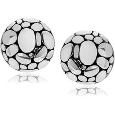 Journee Collection Sterling Silver Pebble Half Ball Stud Earrings ($33) ❤ liked on Polyvore featuring jewelry, earrings, silver, ball earrings, long earrings, clasp earrings, butterfly earrings and christmas jewelry