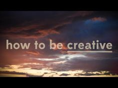 """Whatever we can do to expand our capacity for uncertainty, that is wonderful preparation for creativity."" This PBS video explores the very complex and compelling phenomenon of creativity."