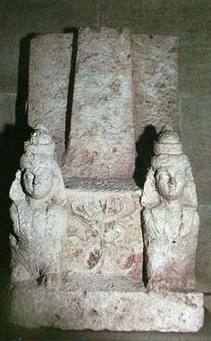 Phoenician throne with betyl and Tree of Life motif, Lebanon  This one has many similarities to the throne above, including the male sphinxes and  the Tree sign.