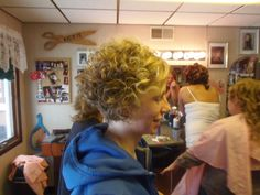 Short hair updo