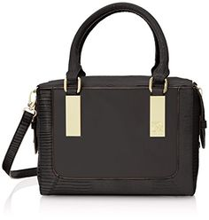 Anne Klein Bar It All Satchel Top Handle Bag, Black, One Size Anne Klein http://www.amazon.com/dp/B00NBRTFSW/ref=cm_sw_r_pi_dp_AwsAub14KHTG6