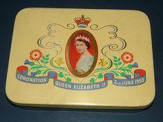 1953 Coronation of HM Queen Elizabeth II Tin by by BiminiCricket, $45.00