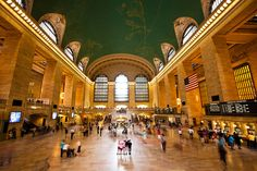 Grand Central Station was pretty amazing...it was huge and had all the major constellations on the ceiling. There was a whole shopping area down a corridor too...    Grand Central Terminal, NYC by chylle, via Flickr