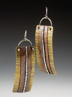 Hey, I found this really awesome Etsy listing at https://www.etsy.com/listing/84162234/long-mixed-metal-earrings-brass-copper