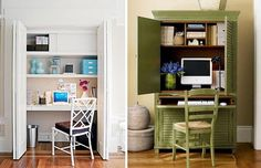 Домашний офис для домов с небольшим пространством
