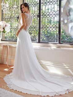 2015 Casamento Robe De A-line V-neck Chiffon Beaded Vintage Wedding Dresses Wedding Gown Bridal Dresses vestido de noiva Wedding Dresses 2014, Wedding Attire, Bridal Dresses, Wedding Gowns, Dresses 2016, Wedding Blog, Wedding Ideas, Bridesmaid Dresses, Sofia Tolli Wedding Dress