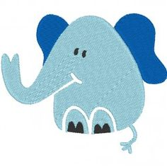 Éléphant bleu naissance #patchworkpassion #broderie #machine #embroidery #diy