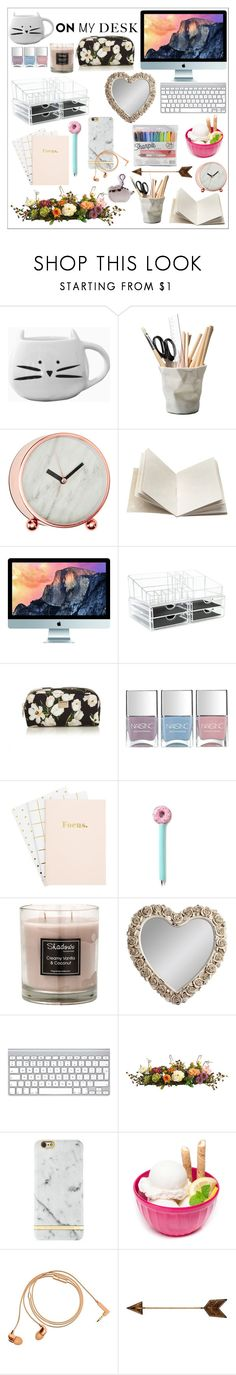 """High school student desk"" by wonderful-me ❤ liked on Polyvore featuring interior, interiors, interior design, home, home decor, interior decorating, ESSEY, Dosa, Dolce&Gabbana and Nails Inc."