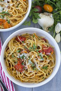 This quick and easy pasta is a perfect light meal for when you really don't feel like cooking – it takes just minutes to make and is bursting with flavor! Similar to my Tomato, Bacon & Asparagus Pasta, this recipe has a simple sauce that is created by combining and cooking down olive oil, garlic …