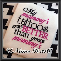 Mommy's and Daddys Tattoos Shirt on Etsy, $19.00 will need this one day lol