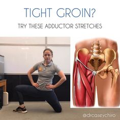 HOW TO STRETCH YOUR GROIN⠀ ⠀ We tend to stretch our glutes, abductors, and quads, but what about our groin (adductors)? Stretches For Runners, Hip Stretches, Stretching Exercises, Fascia Stretching, Quad Stretch, Different Types Of Yoga, Tight Hip Flexors, Psoas Muscle, Lower Abs