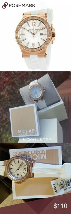 Michael Kors Dylan rose gold MK watch MK2491 SELLING OUT FAST! Guaranteed Authentic MK2491 Model: Dylan White silicone band with Rose Gold stainless steel case Glitz dial New with Michael Kors watch box and owners booklet included  33mm  10 ATM  UPC: 796483238206 No trades. Buy now or offer only. Shipped same business day Michael Kors Accessories Watches