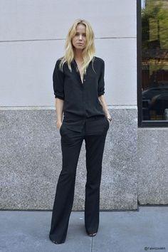 Elin Kling | Black on Black | Slick and Polished | Street Style | Stockholm Style | TheUNDONE #beundone