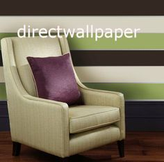 Olivia II Chocolate Cream and Green Striped Wallpaper 6168 by Direct Wallpapers Retail, http://www.amazon.co.uk/dp/B005DRLWZM/ref=cm_sw_r_pi_dp_7OLSsb0ADXPXS