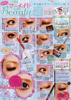Maquillaje Japonés: Aprieta la imagen y luego ve a la web, veras diferentes páginas de revistas.