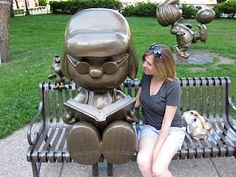 Peanuts statues, Rice Park, downtown St. Paul, MN
