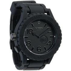 Nixon Men's Black Rubber 51-30 Watch ($319) ❤ liked on Polyvore featuring men's fashion, men's jewelry, men's watches, black, men's blue dial watches, mens watches, mens watches jewelry, nixon mens watches and mens rubber watches