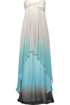 .... Ocean silk-chiffon gown $545