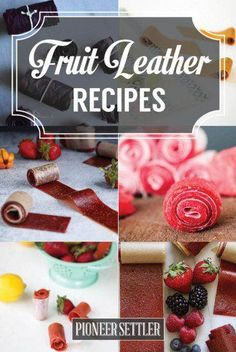 Want to try fruit leather recipes for healthy desserts and snacks? If you want something sweet yet healthy to snack on, these easy fruit leather recipes are just what you're looking for! Fruit Leather Recipe, Fruit Roll Ups, Healthy Meals For Kids, Healthy Sweets, Healthy Snacks, Dehydrated Food, Dehydrator Recipes, Fruit Snacks, Canning Recipes