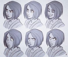Manga Character Drawing Turns out making these expression-sheets was a great deal of fun, so here's… - Cartoon Drawings, Art Drawings, Human Face Drawing, Facial Expressions Drawing, Expression Sheet, Chef D Oeuvre, Drawing Poses, Drawing Tips, Character Design References