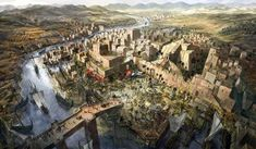 Illustration of ancient Mesopotamia.