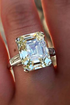 Diamond Rings Trendy Diamond Rings : 27 Eye-Catching Emerald Cut Engagement Rings ❤️ See more: www. Diamond Rings, Diamond Jewelry, Diamond Cuts, Emerald Rings, Ruby Rings, Solitaire Diamond, Uncut Diamond, Diamond Pendant, Solitaire Rings