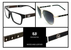 Natural wood and Genuine Italian Leather for eyewear for man