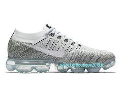 quality design b038c 35445 Nike Air VaporMax Flyknit Blanc Gris Chaussure Officiel Prix Pas Cher Pour  Homme 899473-002