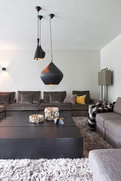 Luxe woondecoratie in woonkamer ontwerp