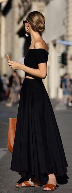 maxi cutout dress w/ off the shoulder detail