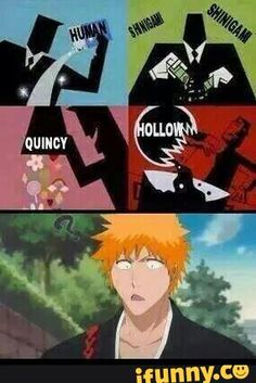 Discovered by Yuu Hanny. Find images and videos about lol, bleach and shinigami on We Heart It - the app to get lost in what you love. Bleach Meme, Bleach Funny, Bleach Fanart, Anime Qoutes, Manga, Funny Comics, Anime Characters, Geek Stuff, Funny Memes