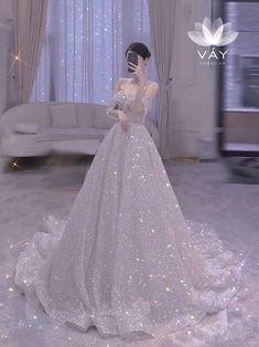 Pretty Wedding Dresses, Gorgeous Wedding Dress, Elegant Dresses, Pretty Dresses, Wedding Dressses, Wedding Gowns, Sparkly Gown, Fancy Gowns, Ball Gown Wedding