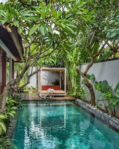 25 Most Popular Pool House Ideas for Relaxing Retreat Best Lan. - 25 Most Popular Pool House Ideas for Relaxing Retreat Best Landscaping Ideas For - Tropical Pool Landscaping, Backyard Pool Designs, Small Backyard Pools, Swimming Pools Backyard, Swimming Pool Designs, Outdoor Pool, Outdoor Spaces, Landscaping Ideas, Small Pools