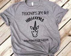 Teacher Shirt. Unicorn Teacher Shirt, Teacher gift, Shirt for Teacher, Christmas gift, Teacher appreciation