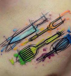 Desse jeito!! Com fundo assim, artístico! Azul, roxo e outra cor que combine!