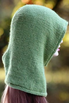 Friend of the Forest Hood Balls to the Walls Knits, A collection of free one- and two- skein knitting patterns