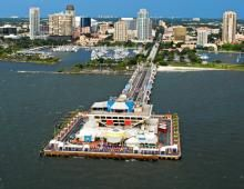 The St. Petersburg Pier, FL (the elevator in this building scared me for life)