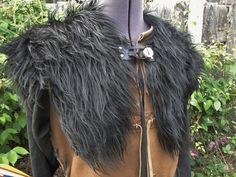 Viking Fur Capelet Mantle  Medieval Barbarian by FolkOfTheWood